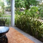 Our terrace - view to the garden