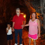 My parents and son in the tunnel