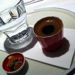 Turkish coffee after breakfast