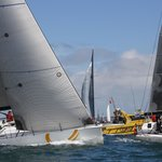 Rounding the marker at the Melbourne to Hobart Yacht Race