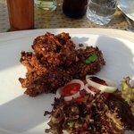 Luna Lanai beach bar: black pepper softsell crabs