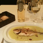 Nice fish for dinner - The second course of the dinner menu