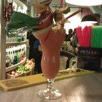 Watermelon + strawberry drink
