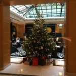 Hotel Lobby with Christmas Tree
