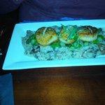 Delicious scallops entree