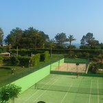 view of tennis court from room 204