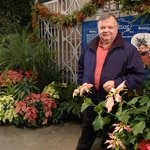 Walt in United States Botanic Garden 26 Dec. 2013 with lots and lots of plants