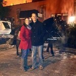 Carriage ride offered in parking lot