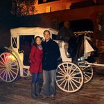 Horse and carriage ride offered at Halls