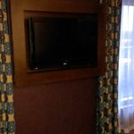 Big tv, living area in executive suite!