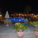 Main pool area at night