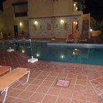 Smaller pool at night