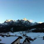 Vue depuis les pistes de ski de Scuol