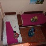 Downstairs bedroom viewed from upstairs bedroom