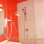 brightly coloured bathroom
