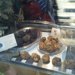The cabinet filled with terrific-smelling truffles