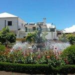 Cilaos - fountain in the centre of town