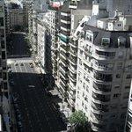 Vista da sacada do último andar do hotel