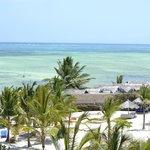 vista della spiaggia dal ristorante