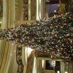 Sapin de Noël dans le hall