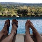 Enjoying vacation poolside....just like the website!