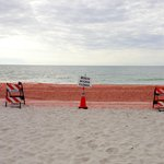 View of beach - closed!