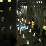 View from our room on 9th floor towards Rock Center