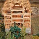 menonites building a barn
