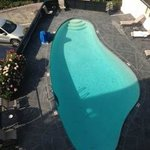 The pool area at Hofsas House Hotel