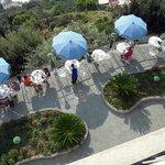 Veduta di una terrazza dell'albergo