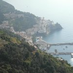 Veduta di Amalfi dall'albergo