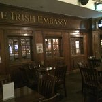 Outside of Irish Embassy Pub located on the 2nd floor of the Irish Village