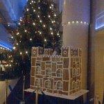 decoracion tipica navideña hall