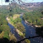 vista del río pescados