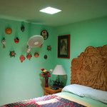 king bedroom, cocos on the walls