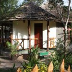 Traditional African-style guesthouses