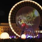 Piazza Bellecour allestita a festa per l'occasione