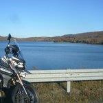 pause hivernale au bord d'un lac