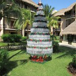 Recycled bottles make a reat christmas tree