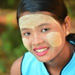 a young girl with acacia root facial treatment