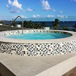 Jacuzzi on pool deck