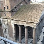 View of the pantheon from our terrace
