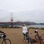 Bike path close to the Golden Gate Bridge