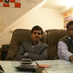 Owner Vijay and booking agent Pradeep