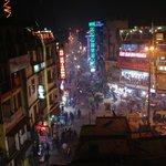 View of Main Bazaar from rooftop