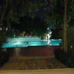 Das Pool in der Nacht