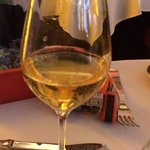 USD 8 glass of apple juice served to a 9 year old out of a wine glass. Poor standards unfortunat