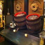 Your beer comes from a wooden keg!!!