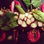 Marinated octopus with fresh herbs