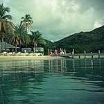 View from the water at the Carlisle Bay resort, Antigua